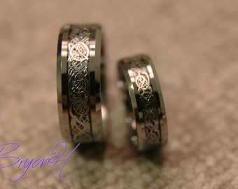 his and her promise rings set matching size tungsten wedding bands set tungsten carbide
