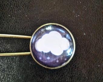 bronze cloud brooch
