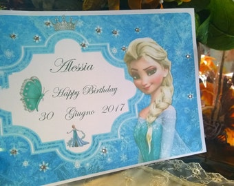 Frozen Customizable Birthday Guest Book