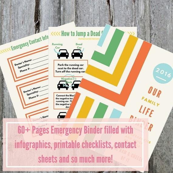 PDF Printable Emergency Binder Babysitter Reference Guide