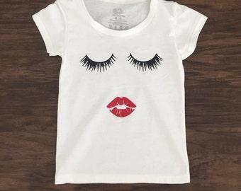 Eyelashes and Lips Toddler Tee