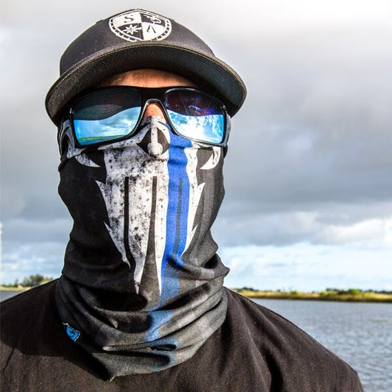 Multi use face shield police appreciation by 3bscustomsrvices for Sa fishing face shield review