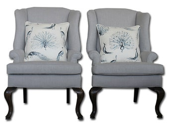 Grey Wingback Chair (set of 2)