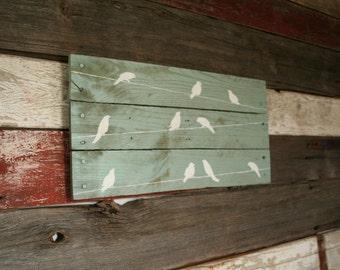 Bird On A Wire Wall Pallet Art