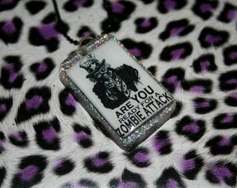 Zombie Attack Glitter Necklace