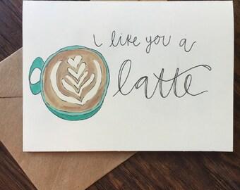 Latte Valentine's Day card