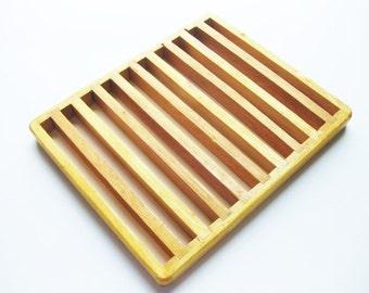 Vintage Wood Cooling Rack or Trivet // Bread or Pie Cooling Rack  #182A
