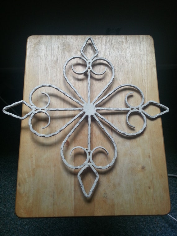 Outdoor Wall Art Metal Scroll : Vintage metal scroll wall art decor shabby chic