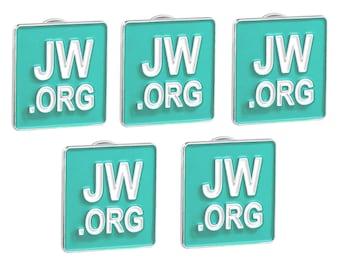 Jw.org Lapel Pins Aqua Square Tie Pins SET OF 5