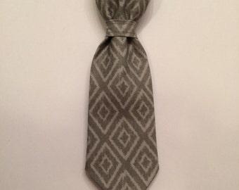 Gray Dog Tie, Dog Accessories, Adjustable Dog Tie, Adjustable Dog Necktie