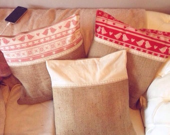 Hessian Cushion covers only