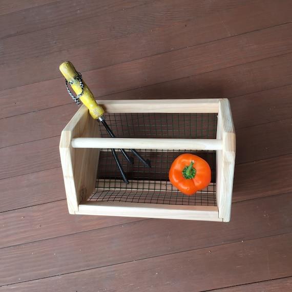 Basket garden tote tool box vegetable storage