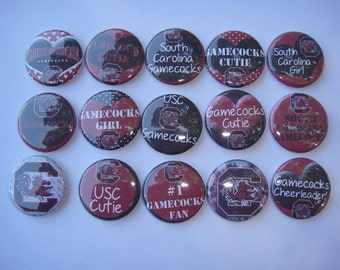 South Carolina Gamecocks Buttons Set of 15