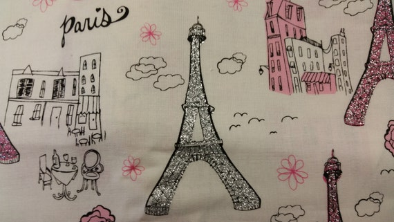 Paris Glitter Cotton Fabric 44 Inches Wide By The Yard Paris