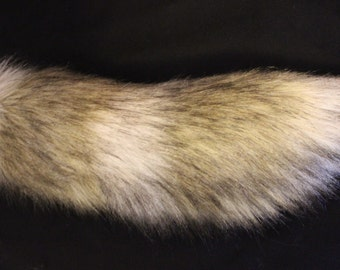 "Realistic 15"" Faux Fur Wolf Tail"