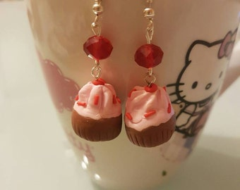 Handmade fimo earrings