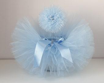 Newborn tutu set, tutu and headband set , blue tutu, blue tutu set, blue headband, birthday set, light blue tutu