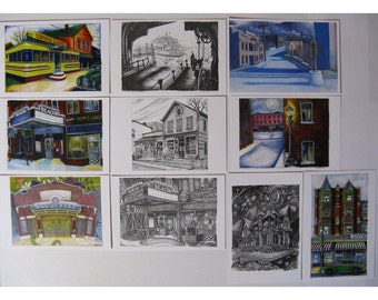 Lost In The Mail Series - 10 Postcards of Historic Beacon, NY