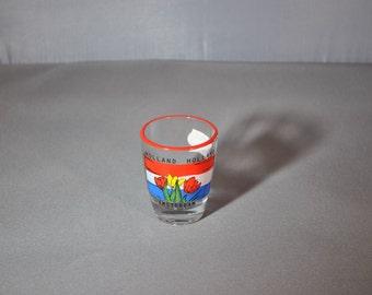 Shot Glass -Hand Painted Amsterdam Tulips