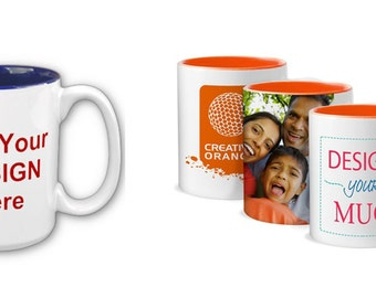 Personalized Mugs (your choice of up to two pictures or full wrap)