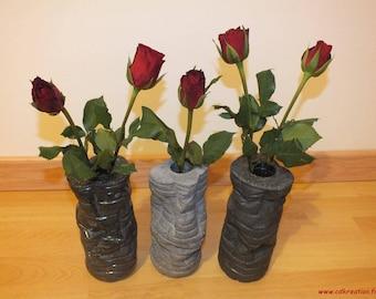 Vase bud vase design of recycled bottles - cdkreation-concrete UHPFRC