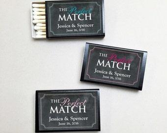 50 pcs Personalized The Perfect Match Matchboxes - PMMBB29