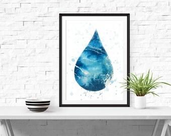Ocean Print, Ocean Water Print, Beach Poster, Ocean WaterPoster, Surf Print, Ocean Water Decor, Instant Download, Digital Print