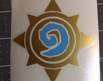 Hearthstone Vinyl Decal - sticker for your macbook, car, window, phone, wall video console & more - multiple sizes and colors available