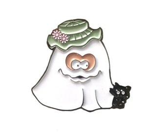 Ghost McBoo Halloween McNugget Enamel Pin