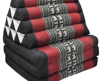 THAI TRIANGLE PILLOW Fold Out Organic Kapok 100% Cushion 10 Hole 3 Fold