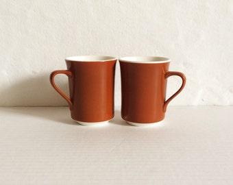 Vintage Brown Tea Cups