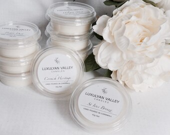 3 Luxury natural wax melts, wax tarts Hand poured in Cornwall, soy melts, St Ives Breeze mix and match