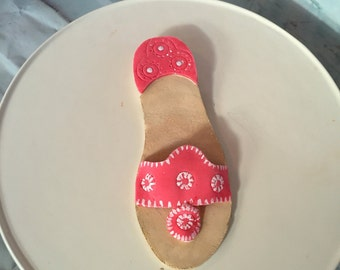 Jack Roger sandals design inspired edible gumpaste shoe cake topper decoration