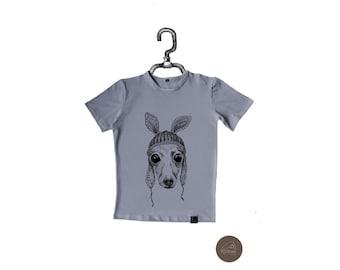 Men's T-Shirt Italian Greyhound in Hat, Sighthound M-G