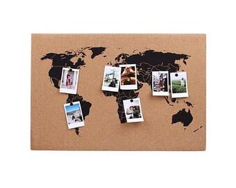 World Map Corkboard/board/traveler/DIY creative world map
