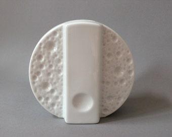 Vase Winterling Germany moon lunar crater white porcelain op art 60s 70s