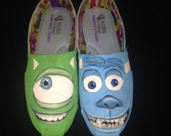 Monsters Inc Handpainted Shoes