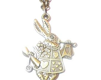"Reversible"" Alice in Wonderland"" Rabbit Pendant"