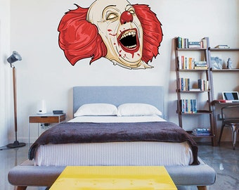 kcik64 Full Color Wall decal jester clown living bedrooms for teenagers