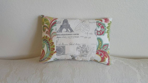 Cute shabby chic decorative pillow in vintage by CloudBerryTrails