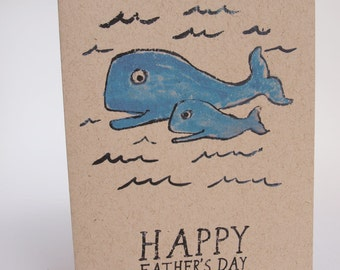 Greeting Card- Father's Day Whales