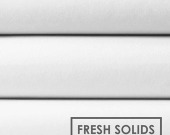 Camelot Cotton Fresh Solid White - Quilting, fabric, woven, basic, low volume
