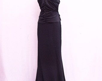 Black Backless Ball Gown, Gypsy Prom Dress, Bridesmaid Dress, Boho Party Dress, Long Black Dress, Bohemian Style Gown, Formal Dress