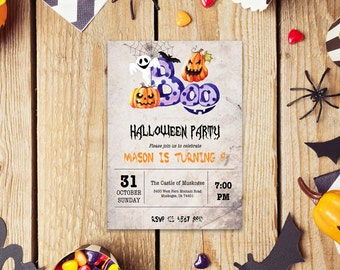 Halloween word invite_4,INSTANT DOWNLOAD - Edit Yourself in Word. Template Editable Text Microsoft Word.DIY You Print.
