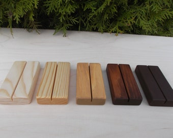 10 Wedding Place Card Holders, Menu holder, Place card holders, Wood place card holder, Wedding decor, Rustic