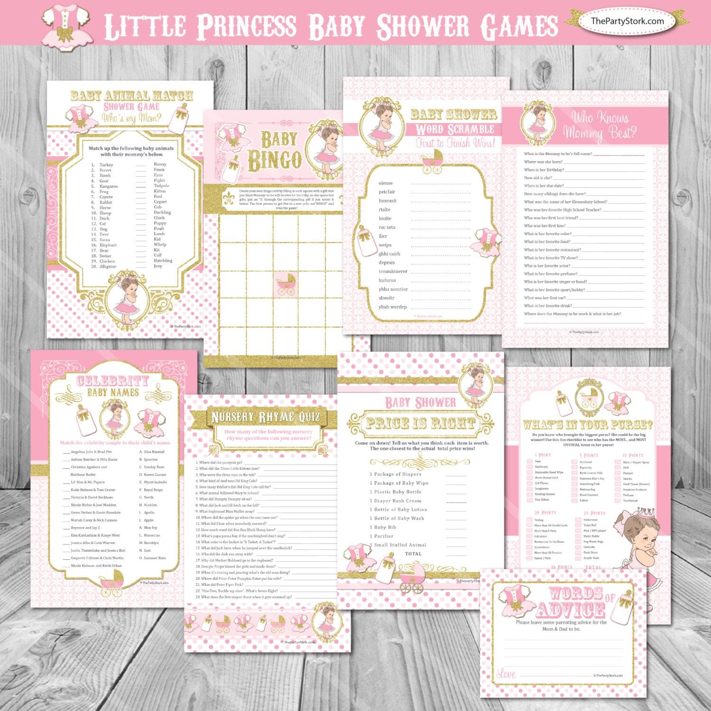 Little Princess Baby Shower Games Girl Royal Baby Shower Girl