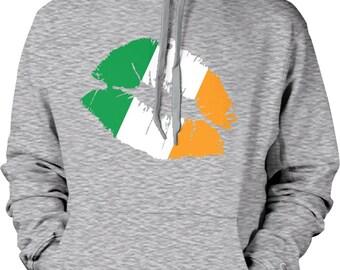 Irish Lips, St. Patrick's Day, Irish Pride, Irish Kiss Hooded Sweatshirt, NOFO_00152