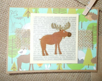 Woodland Creatures- moose- greeting cards