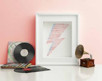 David Bowie Typography Print