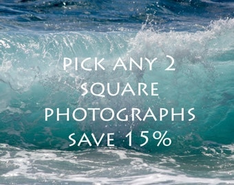 discount set photographs Sale Set of 2 prints Save 15% gift set Print Set Discounted Set of two photos fine art photo print Square print
